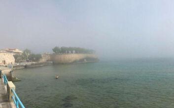 Το σπάνιο φαινόμενο της «μεταφερόμενης ομίχλης» που σκέπασε τα Χανιά