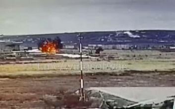 Η σοκαριστική στιγμή που ελικόπτερο πέφτει στη Ρωσία