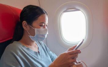 Πολύ χαμηλός ο κίνδυνος έκθεσης στον κορονοϊό μέσα στο αεροπλάνο