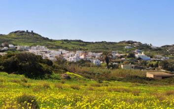 Το εύφορο χωριό της πεδινής Νάξου