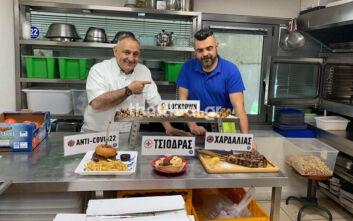 Κεφτεδάκια Τσιόδρας και μπριζόλα Χαρδαλιάς: Οι δύο άνδρες έγιναν πιάτα σε ψητοπωλείο