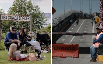 Παρατάθηκε το κλείσιμο των συνόρων των ΗΠΑ με τον Καναδά και το Μεξικό