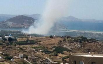 Φωτιά τώρα κοντά στο αεροδρόμιο της Νάξου