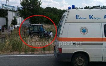 Έστριψε απότομα το τιμόνι του τρακτέρ και βρέθηκε στο χωράφι