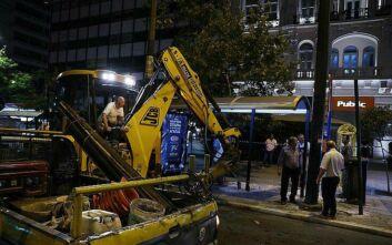 Μεγάλος Περίπατος της Αθήνας: Ξεκίνησαν οι παρεμβάσεις στην πλατεία Συντάγματος