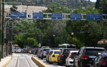 Κίνηση τώρα: Μποτιλιάρισμα στους δρόμους - Κλειστή η Σταδίου και η Βασιλέως Γεωργίου