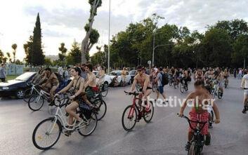 «Γυμνοί» ποδηλάτες ξεχύθηκαν στη Θεσσαλονίκη