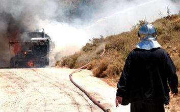 Πέθανε ο οδηγός του βυτιοφόρου που κάηκε στην εθνική οδό Αθηνών - Θεσσαλονίκης