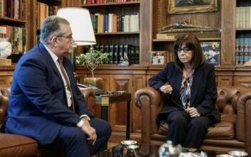 Τα ελληνοτουρκικά ζητήματα στο επίκεντρο της συνάντησης Σακελλαροπούλου - Κουτσούμπα