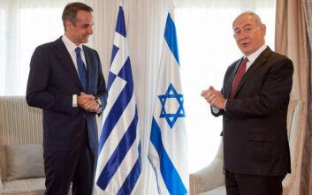 Συνάντηση Μητσοτάκη - Νετανιάχου: Τα πρώτα λόγια που αντάλλαξαν οι δύο ηγέτες