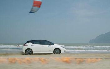 Το Nissan Leaf τολμά να «προκαλεί» τη φύση