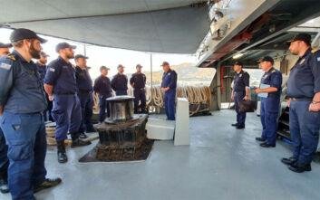 Επίσκεψη του αρχηγού ΓΕΝσε ναυτικές μονάδες στη Λέσβο