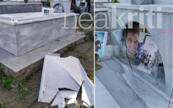 Αναστάτωση στα Ανώγεια: Βεβήλωσαν τον τάφο του Λευτέρη Καλομοίρη