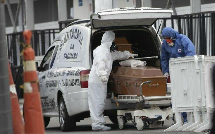 Πάνω από 1.200 θάνατοι και 45.000 κρούσματα κορονοϊού σε 24 ώρες στη Βραζιλία