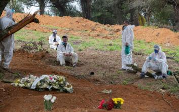 Θρήνος δίχως τέλος στη Βραζιλία, 1.374 θάνατοι από κορονοϊό μέσα σε 24 ώρες
