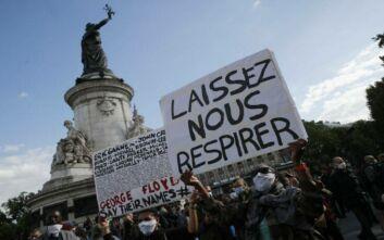 Φορτισμένη συναισθηματικά συγκέντρωση στη μνήμη του Τζορτζ Φλόιντ στο Παρίσι