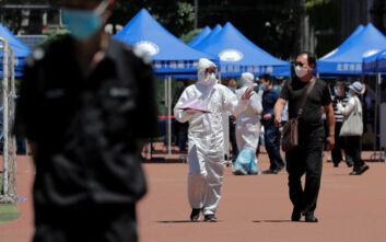 Σε καραντίνα άλλες δέκα συνοικίες του Πεκίνου, 36 νέα κρούσματα κορονοϊού