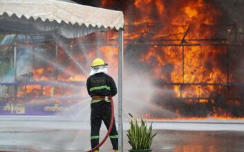 Εντυπωσιακές φωτογραφίες από την καταστροφή 25 τόνων ναρκωτικών στην Ταϊλάνδη