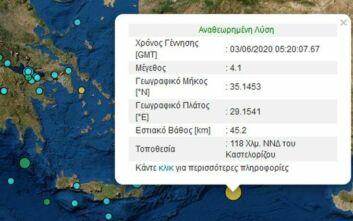 Σεισμός νότια του Καστελόριζου