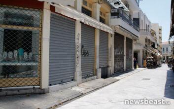 Πτώση τζίρου και λουκέτα στο κέντρο της Αθήνας έφερε ο κορονοϊός