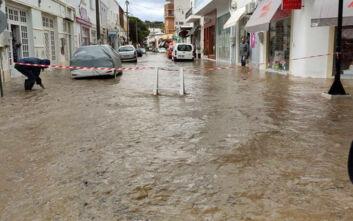 Απίστευτες εικόνες στη Λέρο από την κακοκαιρία: Αίτημα του δημάρχου για κήρυξη κατάστασης έκτακτης ανάγκης