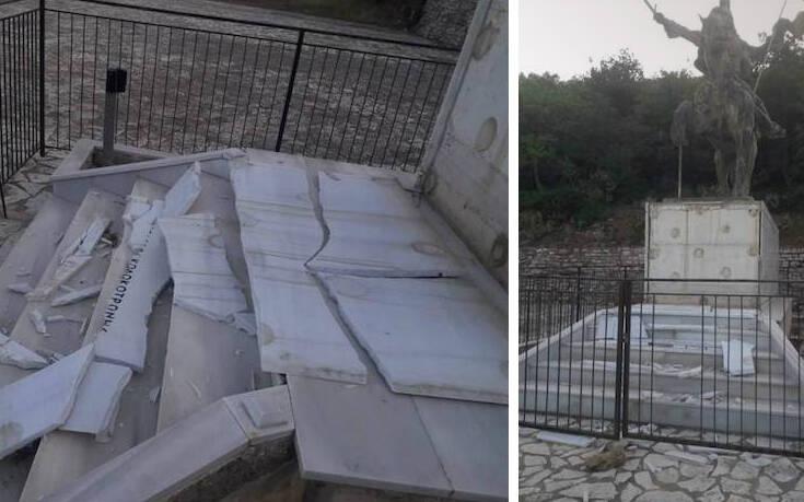 Βανδάλισαν το μνημείο του Κολοκοτρώνη στο Ραμοβούνι Μεσσηνίας