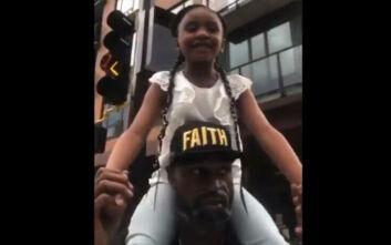Τζορτζ Φλόιντ: Το συγκινητικό βίντεο με την κόρη του - «Ο μπαμπάς άλλαξε τον κόσμο»