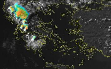 Οι καταιγίδες της Δυτικής Ελλάδας και της Πελοποννήσου όπως φαίνονται από το Διάστημα