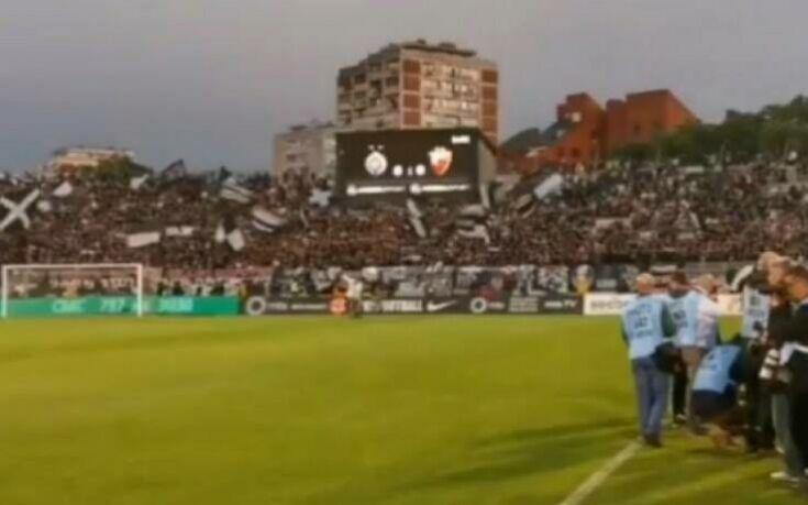 Ποδόσφαιρο με κόσμο, κατάμεστο γήπεδο στο Παρτιζάν - Ερυθρός Αστέρας