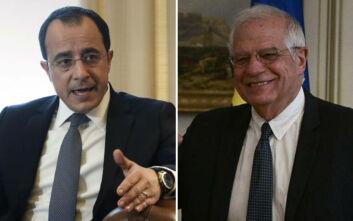 Τουρκικές προκλήσεις, ευρωτουρκικά και η κατάσταση στην Κύπρο στο επίκεντρο συνομιλιών Χριστοδουλίδη - Μπορέλ