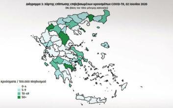 Ο χάρτης του κορονοϊού στην Ελλάδα: Οι λευκές περιοχές και η καμπύλη που ίσιωσε