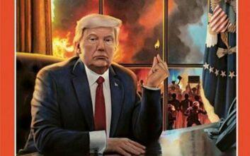 Spiegel: Ο Ντόναλντ Τραμπ με αναμμένο σπίρτο στο χέρι ετοιμάζεται να βάλει φωτιά στη χώρα του