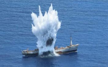 Πολεμικό Ναυτικό: Εντυπωσιακά βίντεο από την άσκηση με πραγματικά πυρά ανοικτά της Καρπάθου - «Βυθίσατε τον Έβρο»
