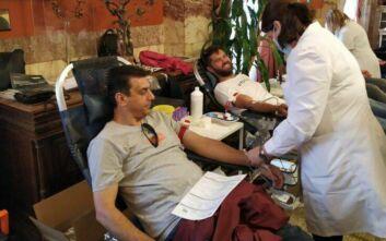 Συνολικά 192 φιάλες αίμα συγκεντρώθηκαν από την εθελοντική αιμοδοσία της Υπηρεσίας Ασφαλείας της Βουλής
