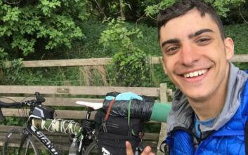 Κλέων Παπαδημητρίου: Ο 20χρονος που ταξίδεψε από τη Σκωτία στην Ελλάδα με ποδήλατο