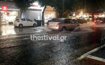 Θεσσαλονίκη: Χαλάζι, πτώσεις δέντρων και πλημμύρες