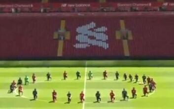 Με τα γόνατα στο έδαφος οι παίκτες της Λίβερπουλ τίμησαν τη μνήμη του Τζορτζ Φλόιντ