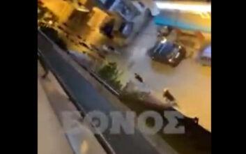 Ζωγράφου: Βίντεο από τα επεισόδια με τους μαθητές - Έσπασαν αυτοκίνητα στη γειτονιά