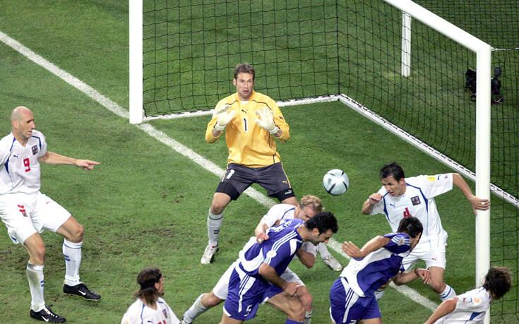 Η UEFA θυμήθηκε το γκολ του Δέλλα με την Τσεχία που έστειλε όλη την Ελλάδα στον... έβδομο ουρανό