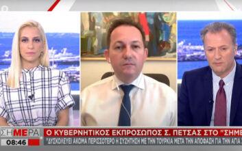 Πέτσας: Προετοιμαζόμαστε για όλα τα σενάρια αν η Τουρκία «περάσει την κόκκινη γραμμή»