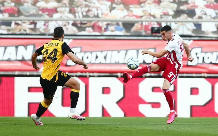 Ολυμπιακός - ΑΕΚ: 2-0 στο 21' ο Ραντζέλοβιτς