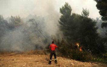 Μεγάλη φωτιά στην Ικαρία - Ενισχύονται οι δυνάμεις στην περιοχή
