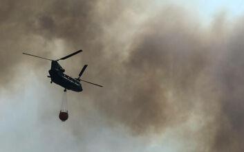 Καλύτερη η εικόνα που παρουσιάζει η φωτιά στο Πεταλίδι Μεσσηνίας
