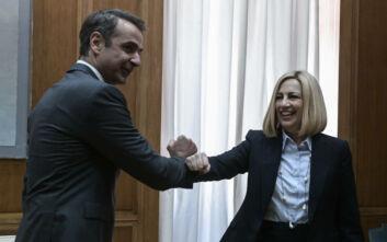 Μητσοτάκης - Γεννηματά: «Όλοι μία γροθιά απέναντι στην Τουρκία» - Το μπράβο στους δημοσιογράφους