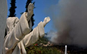 Μεγάλες καταστροφές από τη φωτιά στις Κεχριές - Σε ύφεση το μέτωπο