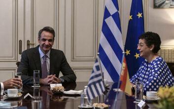 Συνάντηση Μητσοτάκη με την Ισπανίδα ΥΠΕΞ με φόντο τα ελληνοτουρκικά και την Αγία Σοφία