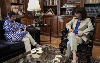 Οι μονομερείς ενέργειες της Τουρκίας στο επίκεντρο της συζήτησης Σακελλαροπούλου - Γκονθάλεθ Λάγια