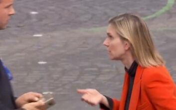 Γαλλίδα πολιτικός ξέχασε τη μάσκα της και την έπιασε πανικός