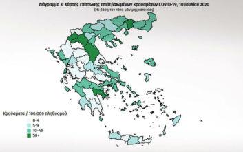 Σε ποιες περιοχές στην Ελλάδα εντοπίστηκαν τα σημερινά κρούσματα - Πόσα είναι τα εισαγόμενα