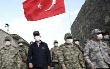 Στα σύνορα Ελλάδας - Βουλγαρίας ο Ακάρ με στελέχη των Ενόπλων Δυνάμεων